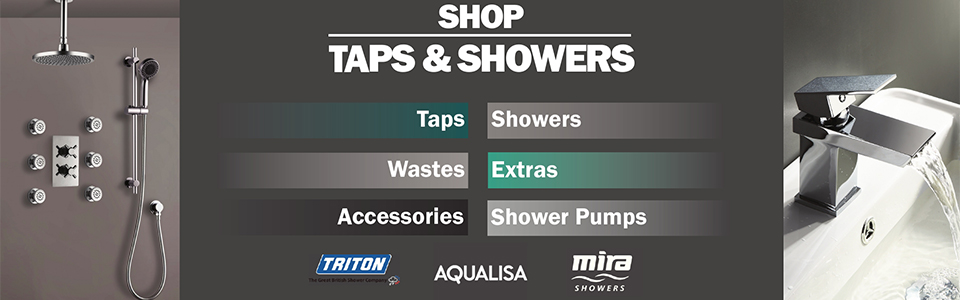 Shop Taps, Showers and Showering Accessories