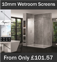 10mm Wetroom Shower Screens