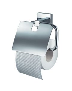 Mezzo Chrome Toilet Roll Holder With Lid