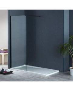 Aqua-I8 Black Wetroom Screen Panel 700mm x 1900mm High