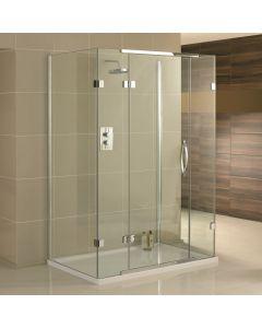 Aquadart Inline 3 Sided Frameless Shower Enclosure