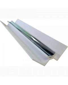 Proplas Silver PVC Internal Corner H2800mm D8mm