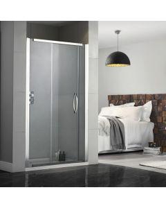 Aquadart Inline 1200mm Recessed Sliding Shower Doors & Shower Tray