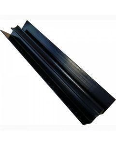 Proplas Black PVC Internal Corner H2800mm D8mm