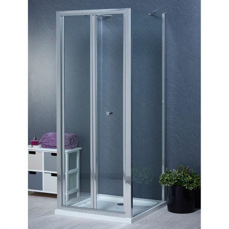 Aqua-I 3 Sided Shower Enclosure - 800mm Bifold Door and 700mm Side Panels