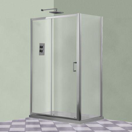 Aqua-I Xtra Sliding Shower Door 1600mm