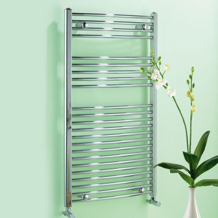Dolomite Chrome Plated Curved Towel Rail W600mm H1100mm