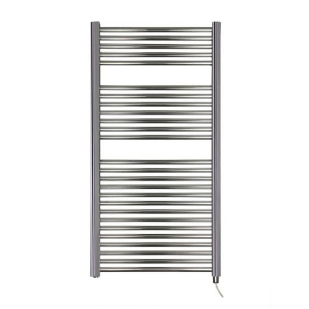 Dolomite Chrome Plated Electric Straight Towel Rail W600mm H1200mm