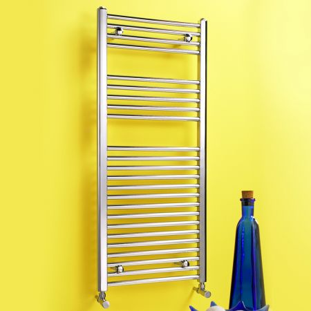Dolomite Chrome Plated Straight Towel Rail W600mm H800mm