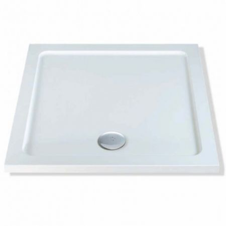 Elements Low profile shower trays Stone Resin Square 1200mm x 1200mm Flat top