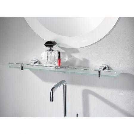 Kosmos Chrome Glass Shelf 600mm