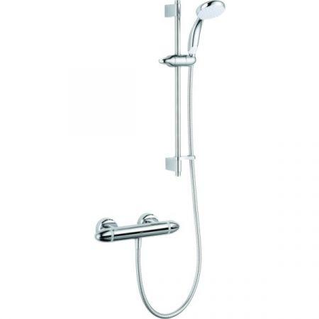 Mira Coda Pro Exposed Shower and Riser Rail Kit - All Chrome