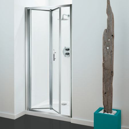 Coram Optima 3 Sided Shower Enclosure - 800mm Bifold Door and 800mm Side Panels