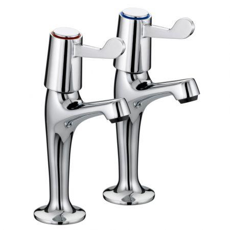 Pair Roma Lever Sink Taps