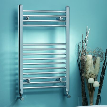 Roma Chrome Straight Towel Rail - 22mm Tube