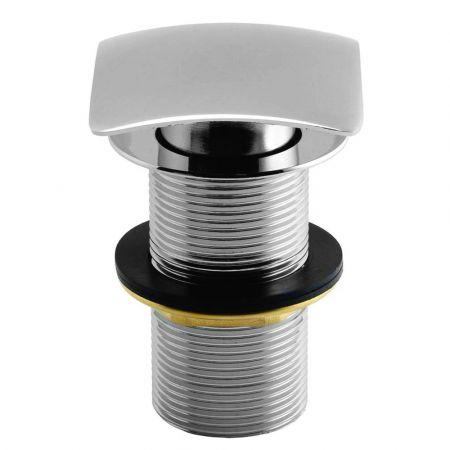 Unslotted Push Button Basin Waste with Large Square Plug