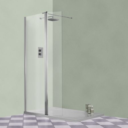 Aqua-I Xtra Wetroom 8 Flipper Panel 300mm